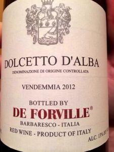 De Forville Dolcetto 2012
